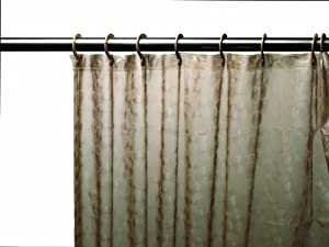Carnation Home Fashions Carnation Home Fashions 3D Prism Look PEVA Shower Curtain with Built-In Shower Curtain Hooks, 70 by ...
