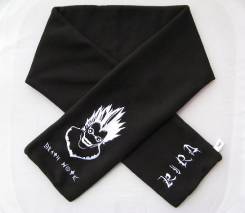 Death Note Ryuk / KIRA Fleece Winter Scarf + Pin