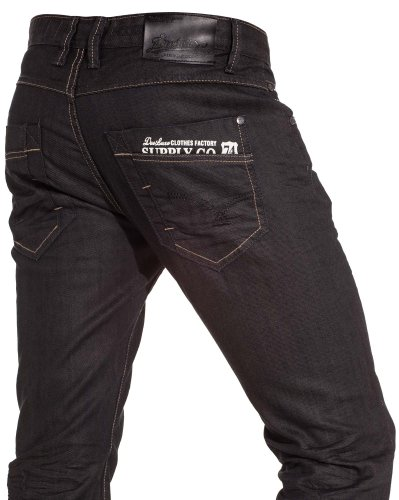 Deeluxe jeans - Black man crumpled jeans and fashion trend - Size: Fr 40 US 32 Color: Black