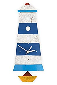 Oxidos Recycled Fair Trade Lighthouse Clock (Blue/White)
