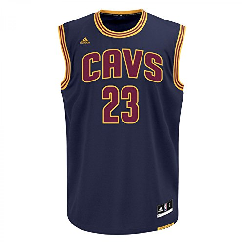 Adidas Int Replica Jrsy T-shirt senza Maniche per Uomo, Blu/Giallo (Nba Cleveland Cavaliers 3 3Cw), XS
