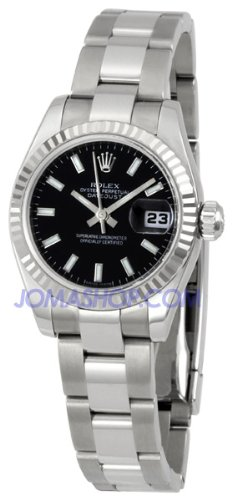 Rolex Ladies Datejust Steel Fluted Bezel Watch 179174 BKSO