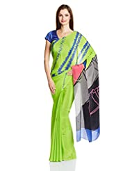 Satya Paul Crepe Saree - B00LGDI3MM