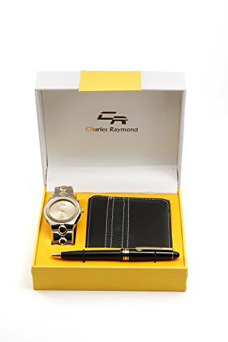 Men Wallet , Pen and Watch Gift Set