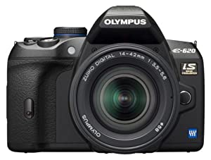 Olympus Evolt E620 12.3MP Live MOS Digital SLR Camera with Image Stabilization and 2.7 inch Swivel LCD w/ 14-42mm f/3.5-5.6 and 40-150mm f/4.0-5.6 ED Zuiko Lenses