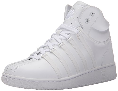 K-Swiss Classic VN Mid, Low-Top Sneaker uomo, Bianco (Weiß (White/White 101)), 44