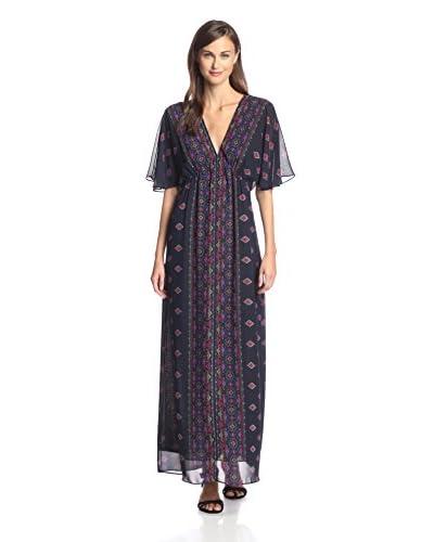 Kaya di Koko Women's Flutter Sleeve Maxi Dress
