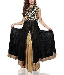 Amitas Boutique Partywear dress Colour Black & Golden