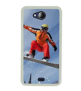 Ice Board Skating 2D Hard Polycarbonate Designer Back Case Cover for Micromax Canvas Play Q355