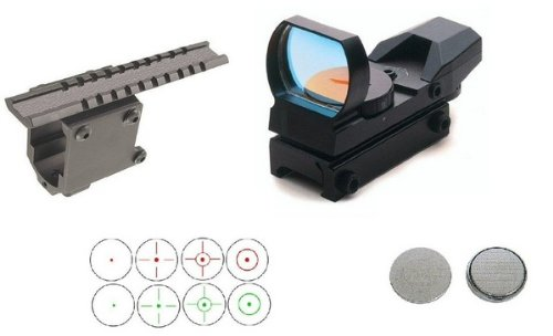 Uag Tactical Cqb 4 Reticle Dual Red Green Open Reflex Sight With No Gunsmithing Weaver Picatinny Rail Pistol Scope Mount For Colt 45 1911 Government Frames Clones from Ultimate Arms Gear