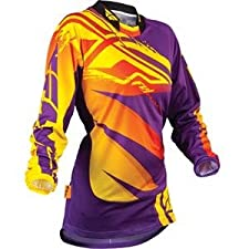 Fly Racing Womens Kinetic Inversion Motocross Jersey Purple/Yellow Large L
