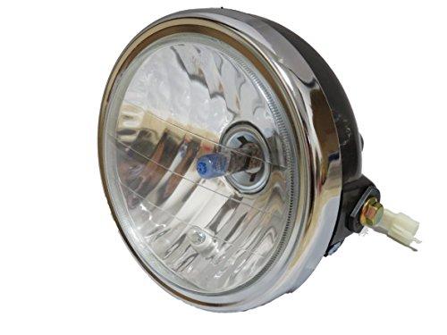 マルチ リフレクター ヘッドライト 汎用 HONDA CB400SF YAMAHA YBR 対応 (02: レンズ直径 145mm)