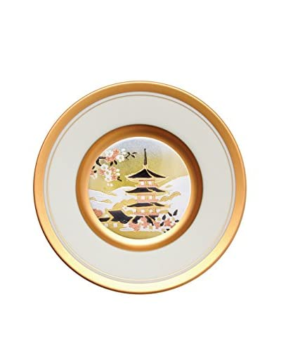 Dynasty Gallery Chokin Art 6.25 Pagoda Plate, Ivory