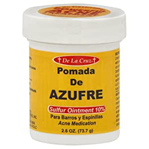 Pomada De Azufre Sulfur Ointment By De La Cruz