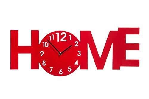 Premier ホームウォールクロック レッド 2200726