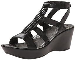 Naot Women\'s Mystery Wedge Sandal, Black, 39 EU/8 M US