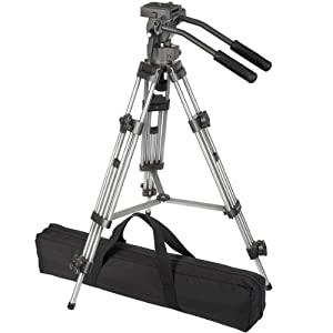 Ravelli AVTP Professional 75mm Video Camera Tripod with Fluid Drag Head