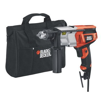 Black & Decker DR650B 6.5 Amp 1/2-Inch Dual Range Hammer Drill with Storage Bag
