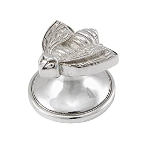 Vicenza Designs K1107 Pollino Bee Knob, Large, Polished Silver