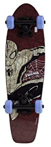 Buy Spiderman Kid's Red Wood Cruiser Skateboard, 21-Inch by Spider-Man