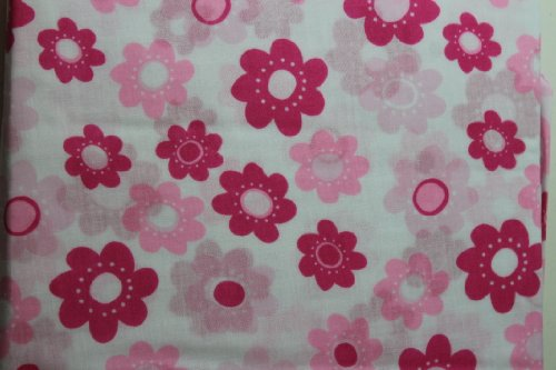Sumersault Girls Floral Crib Sheet - 1