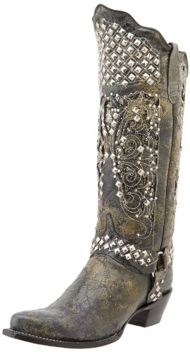 Image of Ferrini Women's Country Rebel Western Boot,Charcoal,8.5 B US