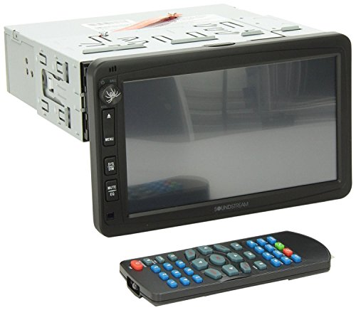 Soundstream VR-732B Single Din Car Stereo DVD Player with 7""