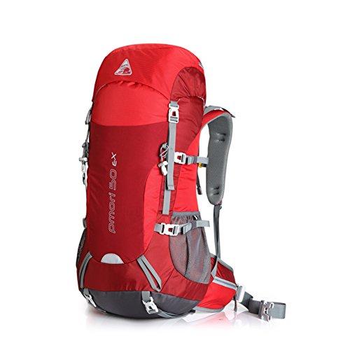 Grand sac capacité d'alpinisme / de plein air sac à dos / hommes et des femmes professionnelles sac à dos / sac à dos de camping-rouge 50L