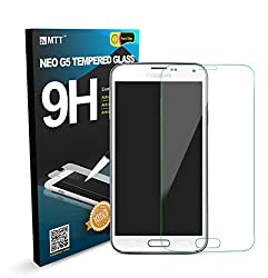 MTT® NEO G5 Samsung Galaxy S5 Highest Quality Premium Anti-Scratch Bubble-free Reduce Fingerprint No Rainbow Washable Screen Protector Easy Install Product with 30 Day Replacement Warranty [1-Pack,0.33mm,2.5D Rounded Edges]