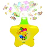YELLOW - TOMY STARLIGHT DREAMSHOW BABY CHILD MOBILE COT MUSICAL LULLABY TOY GIFT