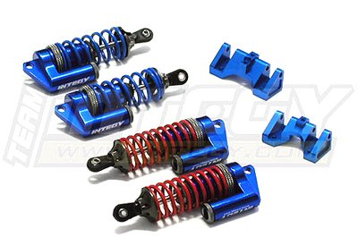 Integy RC Hobby T3102BLUE MSR6 Piggyback Shock(4) for Traxxas Revo, E-Revo Slayer(both) (L=89mm)