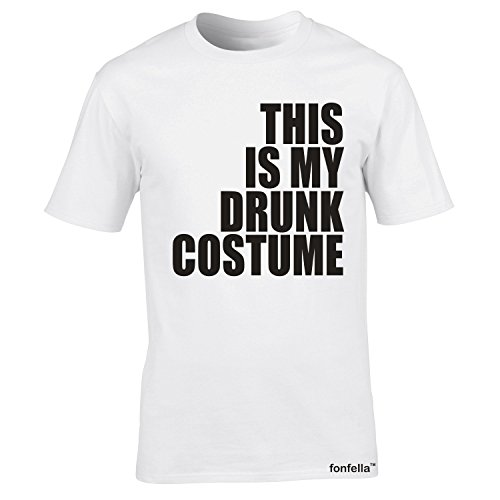 Fonfella Slogans Men'S This Is My Drunk Costume - Loose Fit Baggy T Shirt 3X Large White