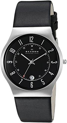 Skagen - 233XXLSLB - Montre Homme - Bracelet cuir noir
