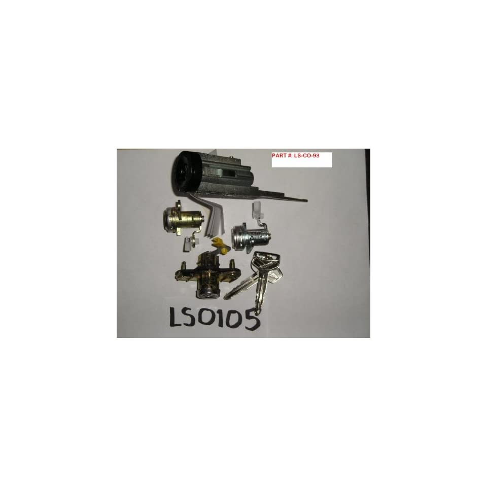 1993 1997 TOYOTA COROLLA IGNITION SWITCH CYLINDER, DOOR AND TRUNK LOCKS WITH MATCHING KEYS [LOCK SET]