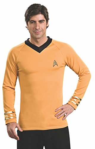 Star Trek Classic Deluxe Gold Shirt, Adult XL Costume
