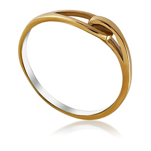 Loop Cocktail Ring, Infinity Symbol Ring Unique, Cocktail Ring, Chic Jewelry, Plated Gold Ring Simple (Interlocking Rings compare prices)