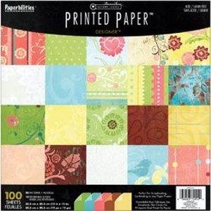 DMD Designer Printed Scrapbook Paper, 100-Count Package