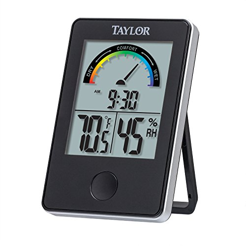 Taylor 1732 Indoor Comfort Level Thermometer and Hygrometer, Black (Taylor Temperature Sensor compare prices)