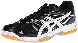 ASICS Men\'s Gel Rocket 7 Volley Ball Shoe,Black/White/Silver,8.5 M US