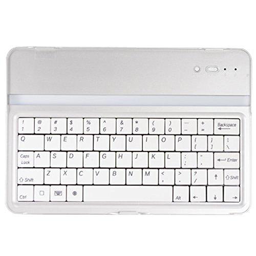 ikodoo ウルトラスリムマグネットクリップBluetooth3.0キーボードカバーfor iPad mini1/2/3 (シルバー)