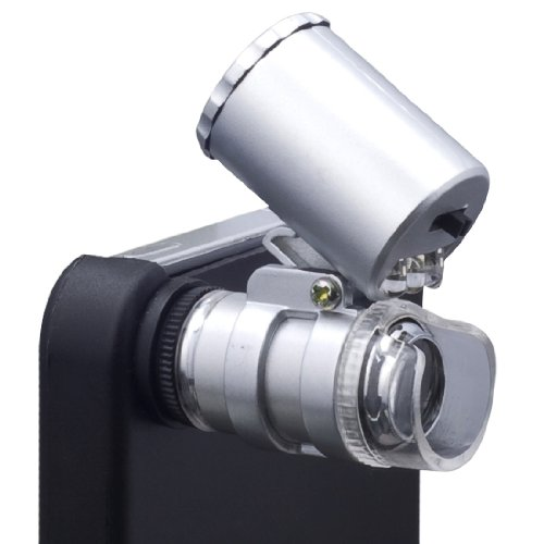 Xcsource® 60X Zoom Magnify Cell Phone Moblie Phone Microscope Micro Lens For Apple Iphone 4 4G 4S Uv + Led Dc77
