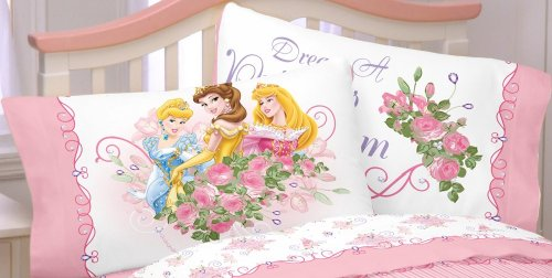 Disney Princess Rose Garden Dreams Standard Pillowcase