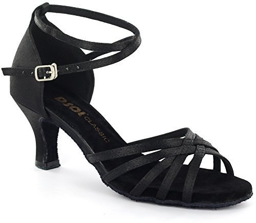 DSOL Women's Latin Dance Shoes DC261305 (6, Black) (Salsa Women Dance Shoes compare prices)