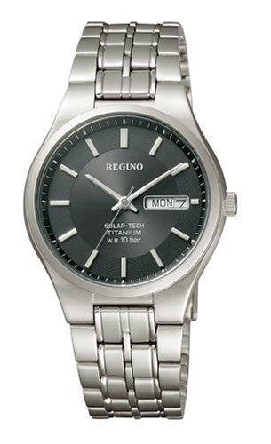 CITIZEN 腕時計 REGUNO レグノ ソーラーテック スタンダード チタンモデル RS25-0071B メンズ
