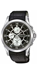 0e72673464a Seiko Premier Chronograph Black Dial Black Leather Mens Watch SNAD29 ...