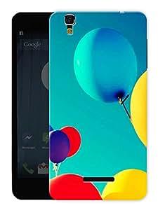 "Humor Gang Balloons Up In Sky Printed Designer Mobile Back Cover For ""Yu Yureka Plus"" (3D, Matte, Premium Quality Snap On Case)"