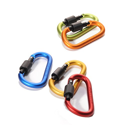 4ucycling-Aluminum-Alloy-Screw-Carabiner-D-Shaped-Lock-Spring-Clip-3-Home-Hooks-Key-Rings-Holder-Light-Weight-Pack-of-5