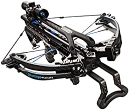 Carbon Express 20261 Intercept Axon Crossbow Kit (Rope Cocker, 3 Arrow Quiver, 3 Crossbolts, Rail Lubricant, 3 Practice Points, 4x32 Glass-Etched Reticle Lighted Scope), Black