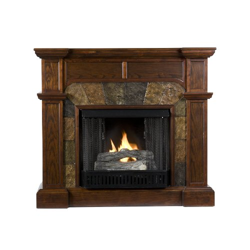 SEI Cartwright Convertible Gel Fuel Fireplace, Slate/ Espresso photo B00440CRK8.jpg