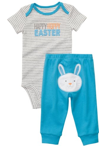 Bunny Themed First Easter Outfits for Baby Boys